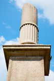Old column in the cloudy sky Royalty Free Stock Photo