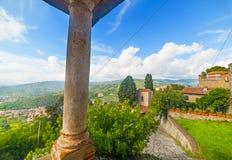 Old column in Montecatini Stock Image