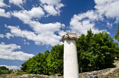 The old column ruins Royalty Free Stock Photography