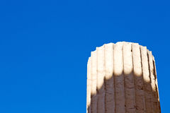 In   old column  stone  and  roman temple Royalty Free Stock Images
