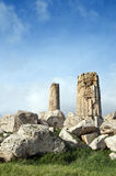 Old columns. At Selinunte in Sicily stock photo