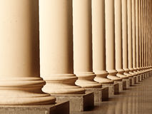 Old columns. Is ancient style. Realistic 3D illustration sepia toned stock illustration