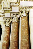Old columns. Old marble columns Royalty Free Stock Photos