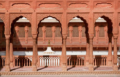 Old columns and arches of palace in India Royalty Free Stock Photos