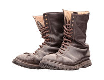 Old combat boots Royalty Free Stock Image