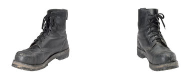 Old combat boots Stock Image