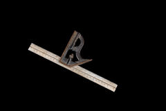 Old combination square isolated on a black background Royalty Free Stock Image