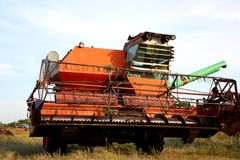 Free OLd Combine Harvester Royalty Free Stock Photos - 23596888