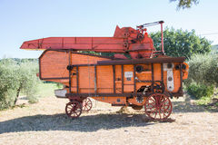 Old combine harvester Stock Photography