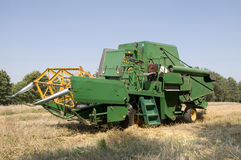 Old combine harvester Stock Images