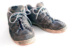 Old Comfortable Shoes. The comfortable feel of well worn shoes Royalty Free Stock Image
