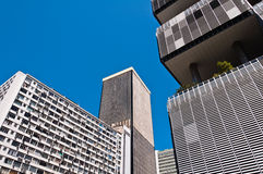Old Commercial Skyscrapers in Downtown Rio de Janeiro, Brazil Royalty Free Stock Photo