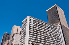 Old Commercial Skyscrapers in Downtown Rio de Janeiro, Brazil Stock Images