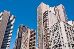 Old Commercial Skyscrapers in Downtown Rio de Janeiro, Brazil Royalty Free Stock Photography