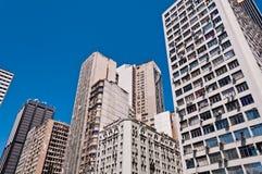 Old Commercial Skyscrapers in Downtown Rio de Janeiro, Brazil Stock Photos