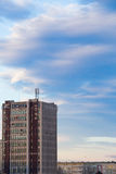 Old communist block. Old apartment block and tower block. Stock Images