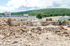 Old communist glass factory demolished in Slovakia, Bratislava Royalty Free Stock Photos