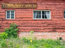 Old Community Hall Royalty Free Stock Photography