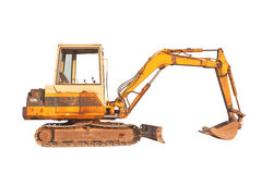 Old compact size excavator machine Stock Photography