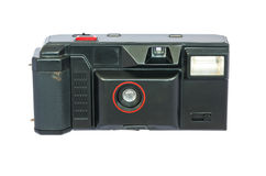 Old compact vintage camera against white background. Stock Image