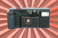 Old compact vintage camera against white background. Royalty Free Stock Photos