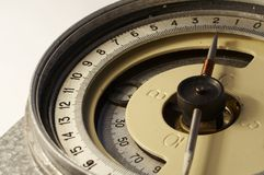 Old compass. Old mining compass on white Stock Photography