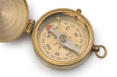 Old compass. On a white background Royalty Free Stock Images