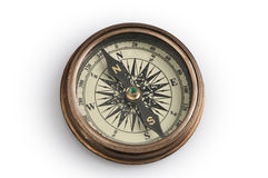 Old compass. On a white background Royalty Free Stock Photography