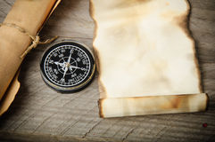 Old compass Stock Image