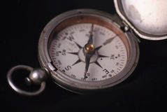 Old Compass on black Royalty Free Stock Image