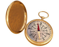 Old compass isolated Stock Photography