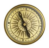 Old compass isolated 3d illustration stock illustration