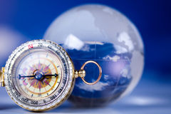 Old compass on modern bright background Stock Images