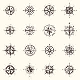 Old compass or ocean, sea navigation wind rose Stock Photos