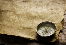 Old Compass and paper Stock Photos