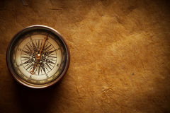 Old Compass and paper Royalty Free Stock Images