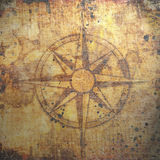 Old compass on paper background Royalty Free Stock Photos