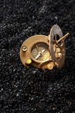 Old Compass sundial. Royalty Free Stock Images