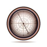 Old compass on white background Royalty Free Stock Photography