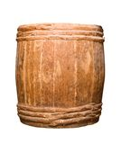 Old completely wooden barrel. Isolated on white Stock Photo