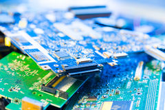 Old computer boards Stock Photography