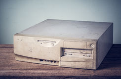 Old computer case Stock Images