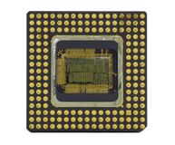 Old Computer Chip on White Royalty Free Stock Image