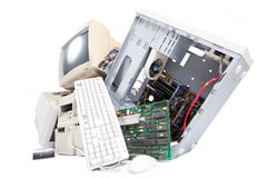 Old computer components Stock Photography