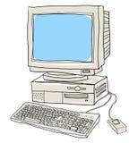 Old computer desktop  art illustration Stock Photography