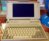 An old computer on display Royalty Free Stock Images