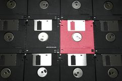 Old computer floppy disks royalty free stock photo