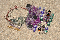 Old Computer Graphic Circuit Board Stock Photography