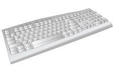 Old computer keyboard Royalty Free Stock Photo