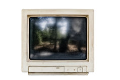 Old computer monitor isolated Stock Images